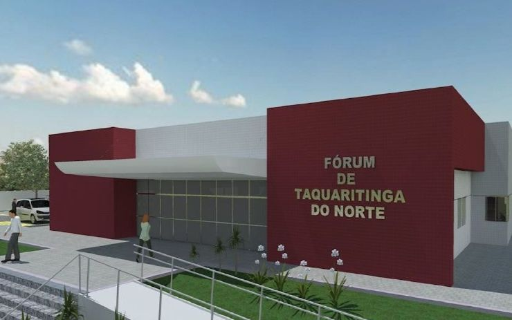 Maquete da obra do Fórum de Taquaritinga do Norte