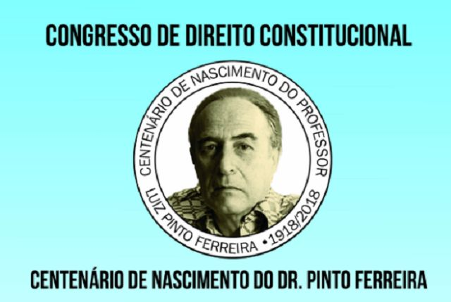 Imagem do congresso com foto do homenageado no centro do cartaz