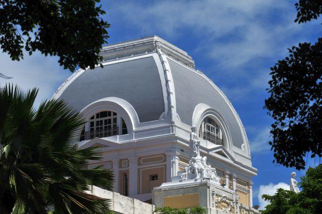 Detalhe da cúpula do Palácio da Justiça, onde fica a Presidência do Tribunal